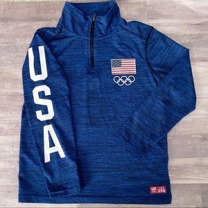 Boy's Team Apparel Olympic Half Zip Top